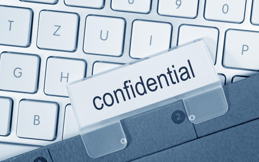 Specifying each of your confidential information